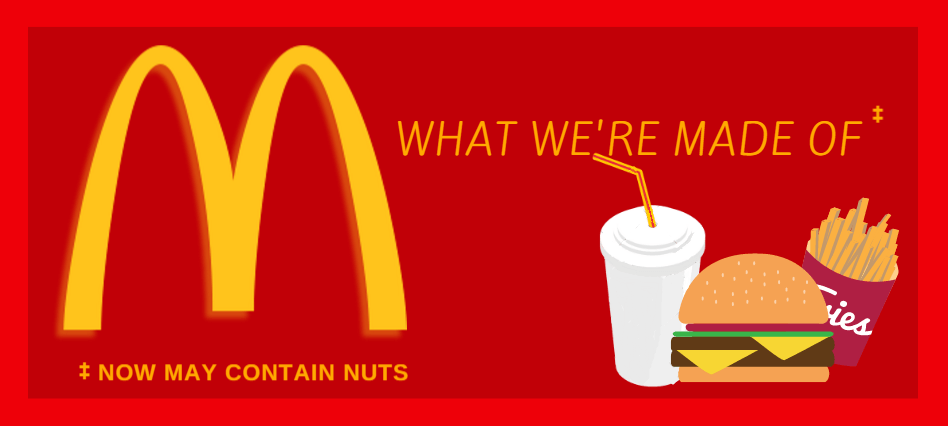 McDonalds food now may contain nuts