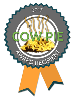 Cow Pie 2017 Award